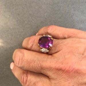 Glamour rich rose color ring